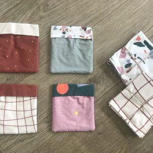 Pochette en coton pour mouchoirs
