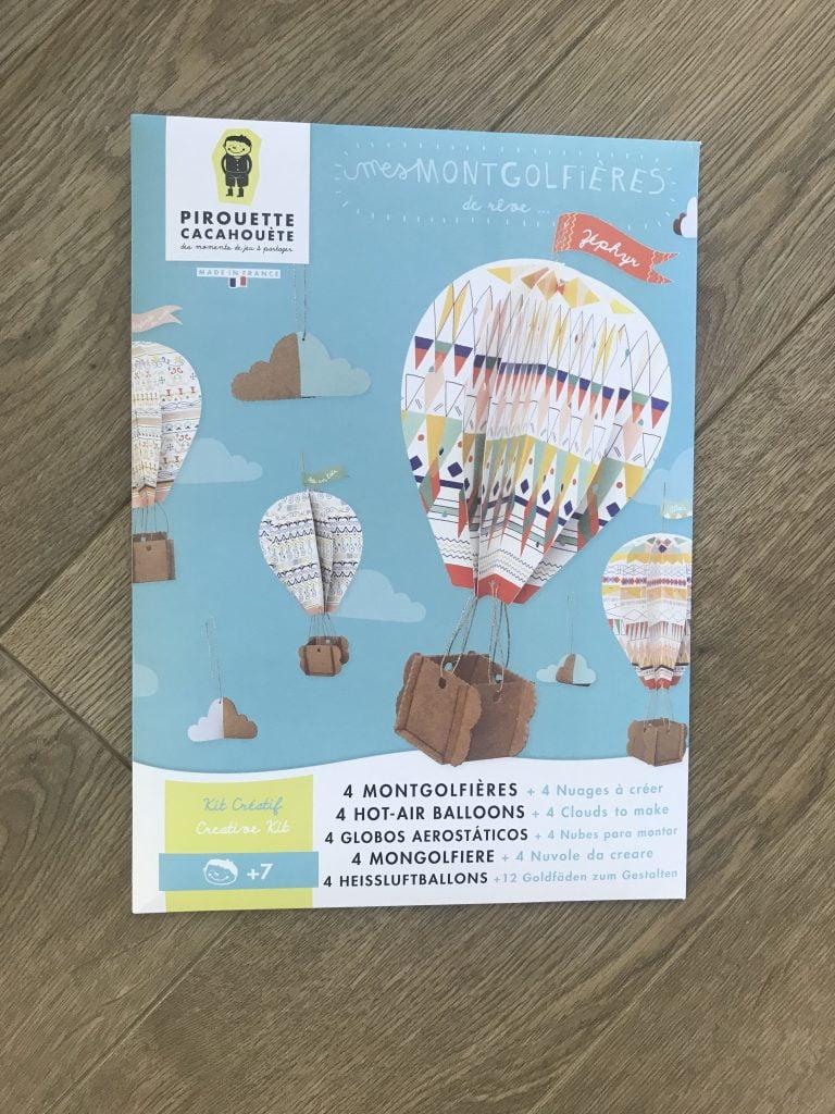 kit creatif montgolfieres en papier