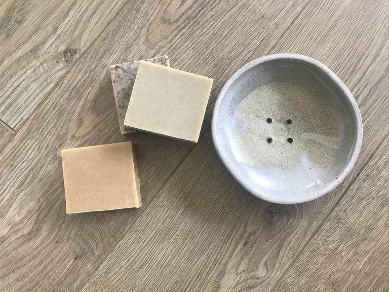 porte savon en grès fabriqué en aveyron