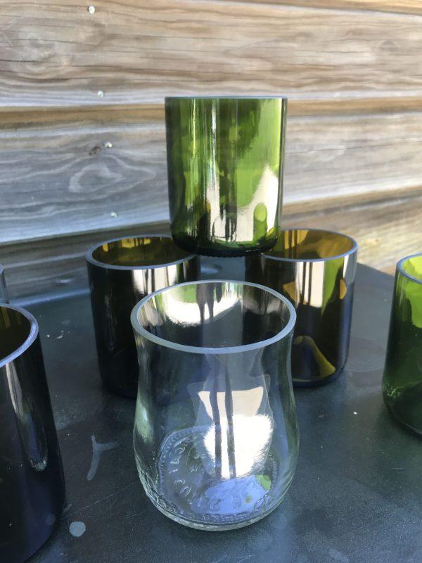 verres en verre upcyclé fabriqués en france